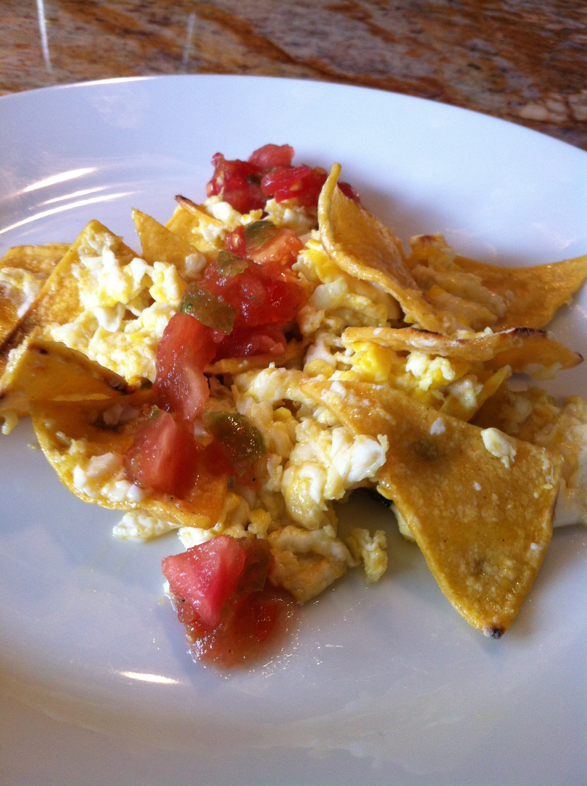 Texas Mexican Breakfast:  Migas con Chile