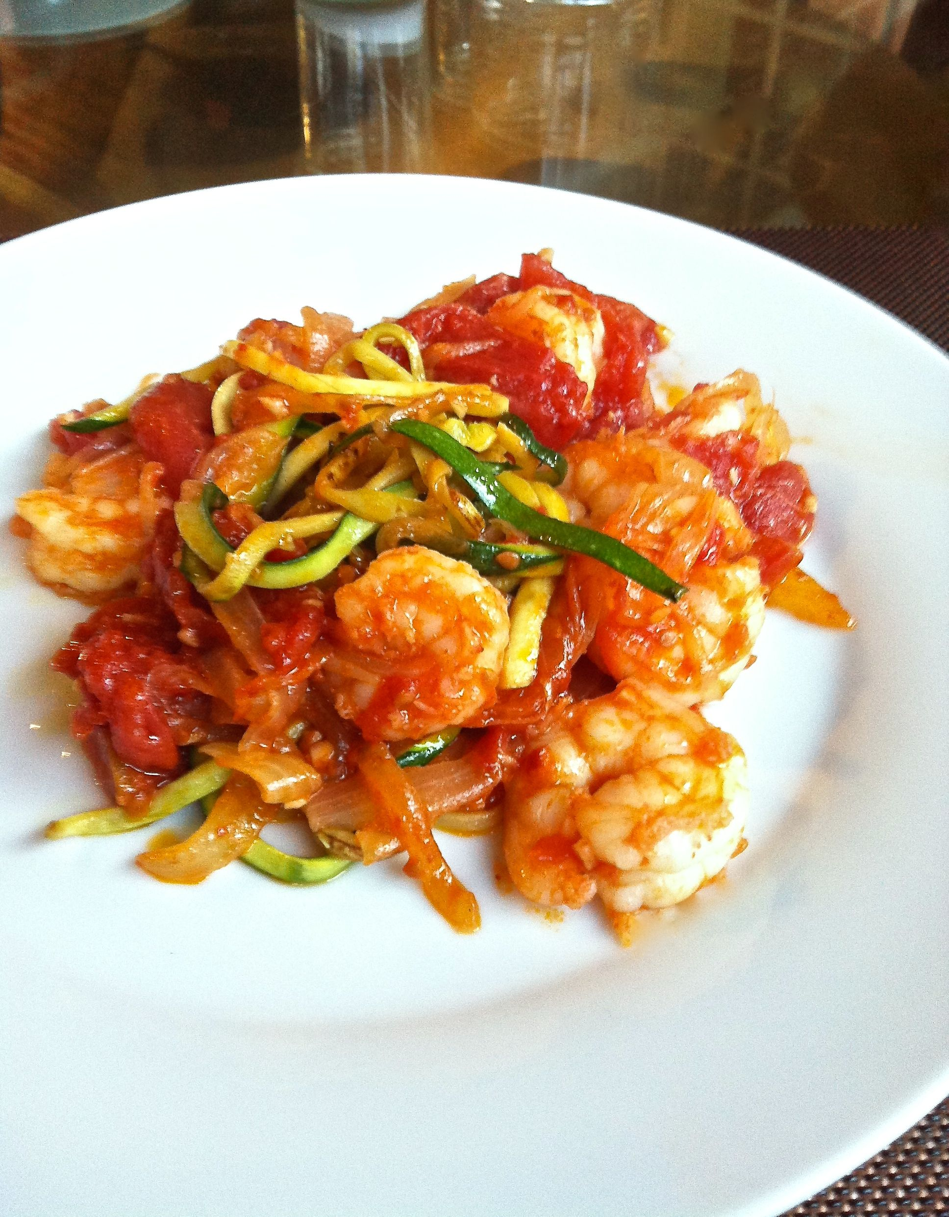 Camarón y Calabacita – Shrimp with Squash Noodles