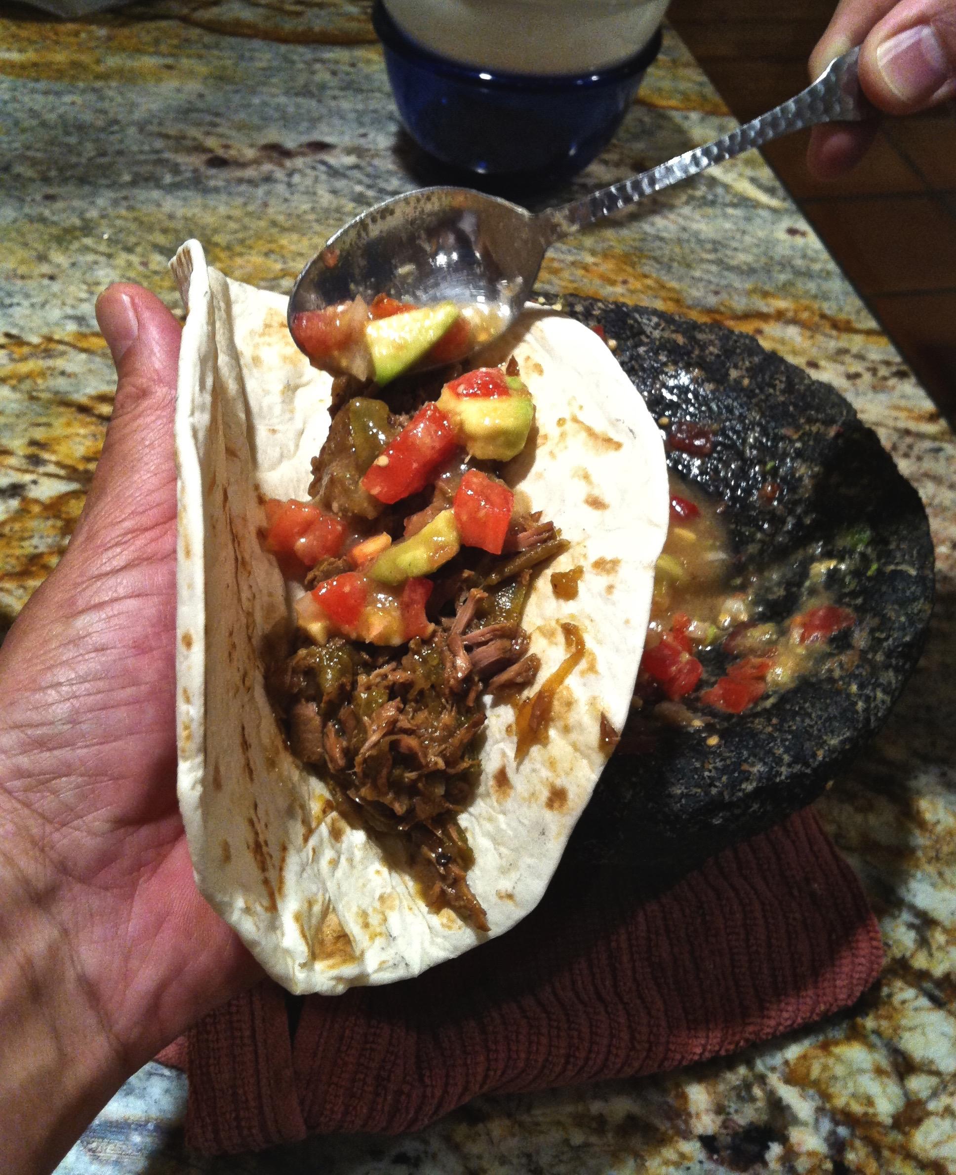 Crockpot Carne Guisada – Guacamole Salsa