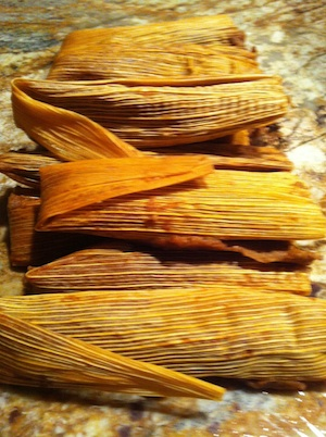 Holiday Traditional Bean Tamales