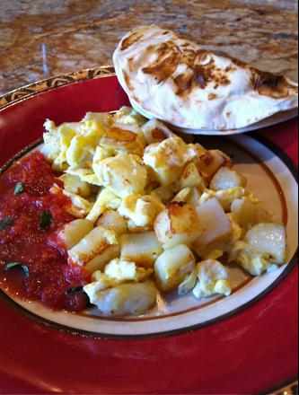 Breakfast Tacos: Potato and Egg