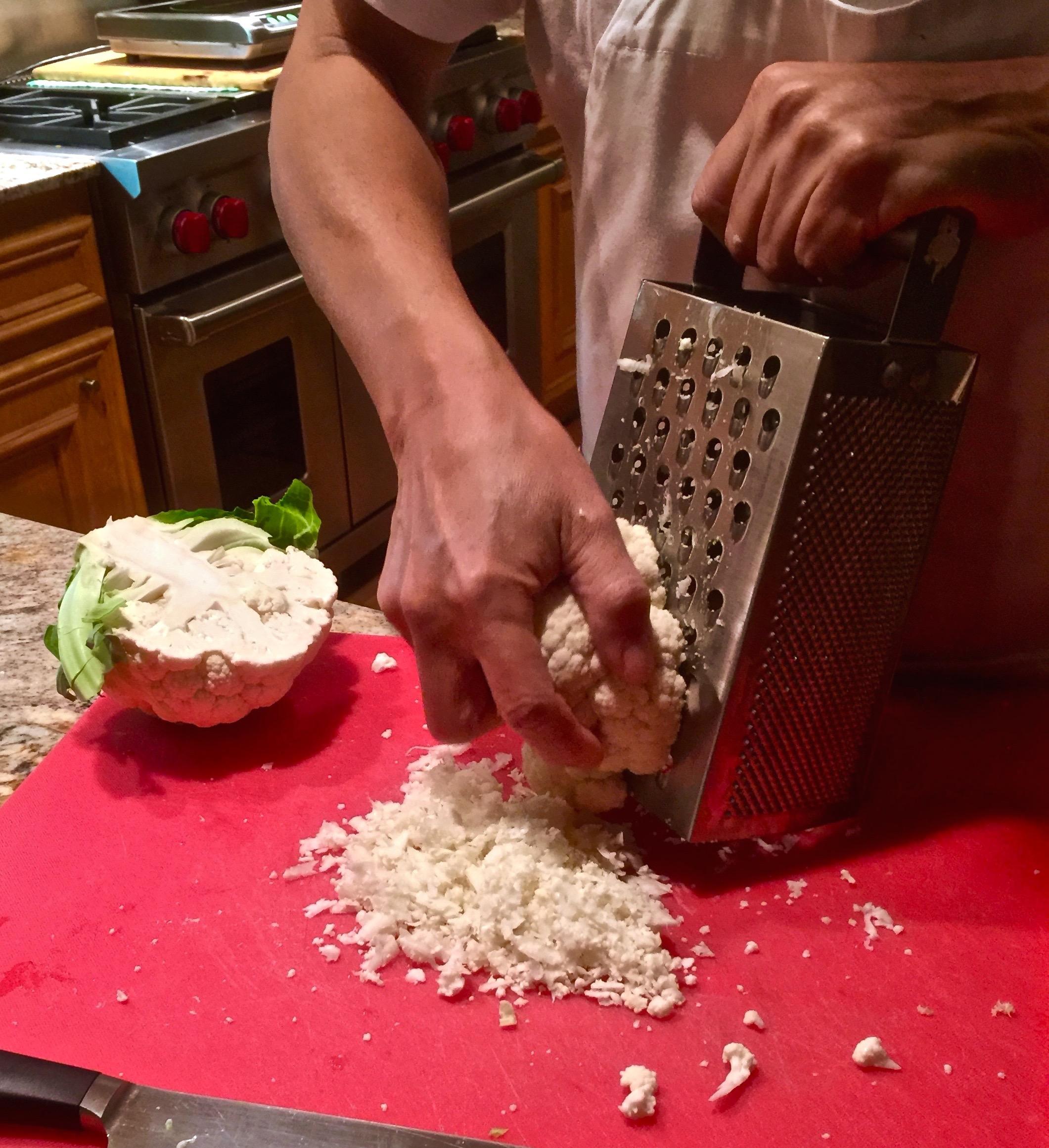 Riced Cauliflower – Arroz de Coliflor
