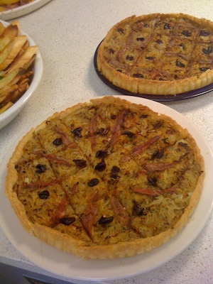 Pissaladière, a French onion tart
