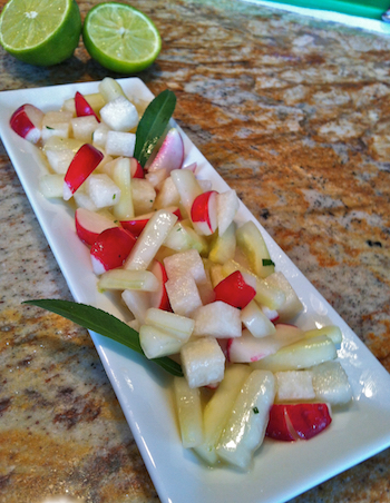 Jicama Salad:  A Summer Treat With Lime-Serrano Dressing