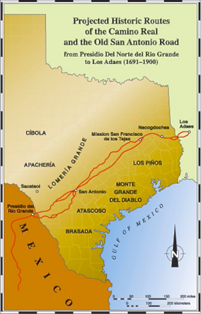 Camino real Indigenous roadway