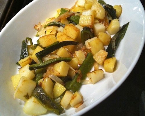 Poblano Potatoes, Papas Con Rajas