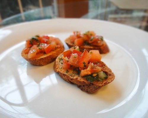 Basil Bruschetta In Winter