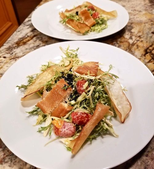 Smoked Trout Salad with Yerbaniz-Chipotle Dressing