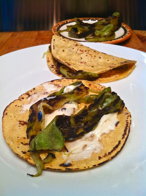 Anaheim Chiles, Roasted With Corn Tortillas