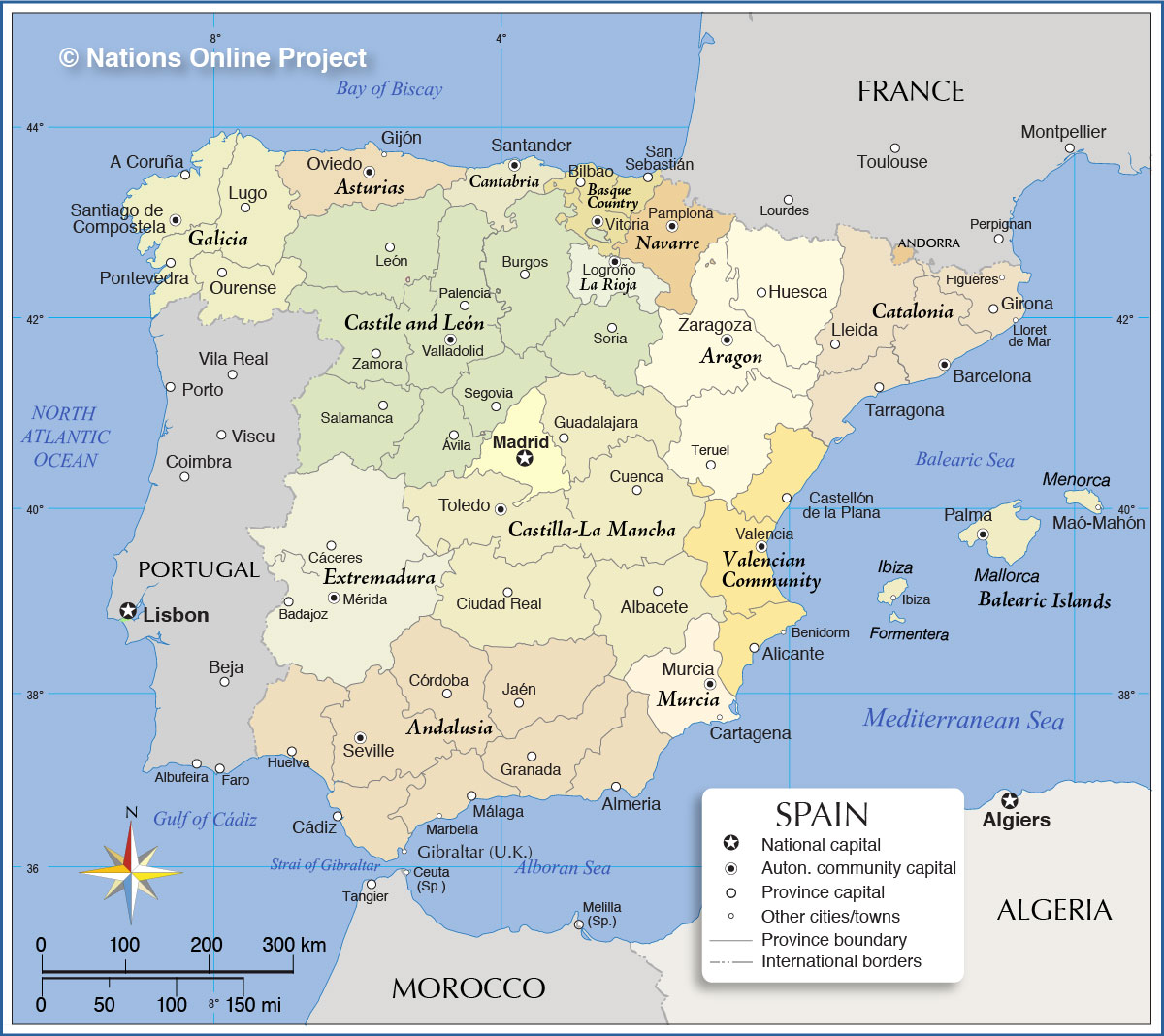 Map of Spanish Regions