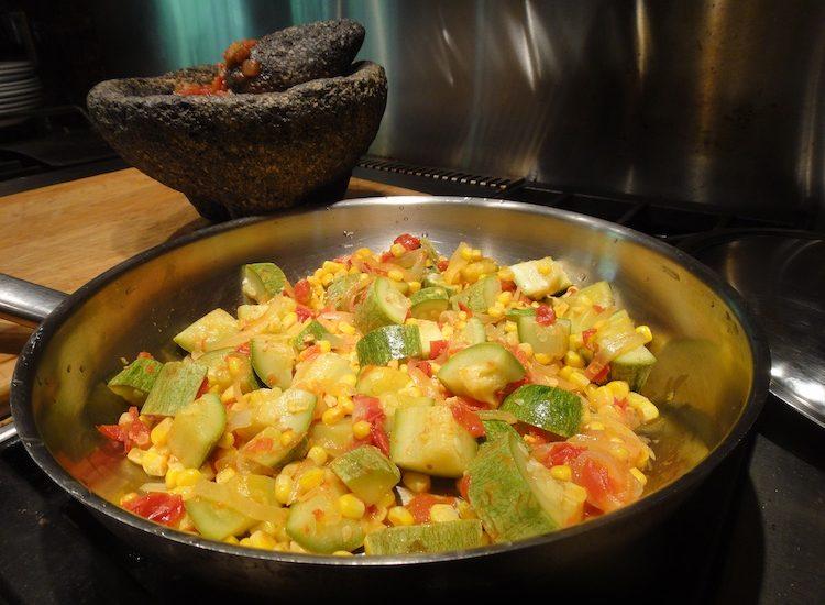 Corn Squash Guisado: Quintessentially Native Texas Mexican