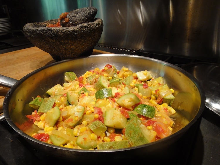 Corn Squash Guisado: Quintessentially Native Texas Mexican