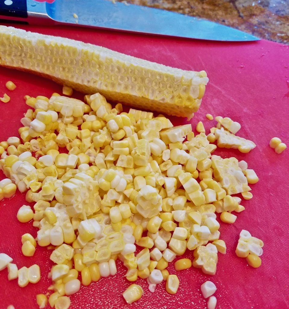 Slice the kernels close to the cob