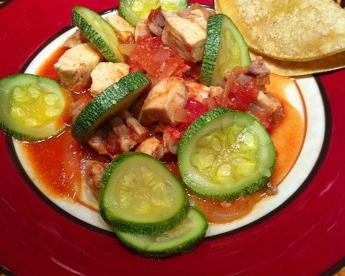 Calabacita Con Pollo, Squash With Chicken