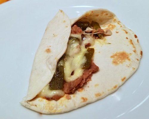 Bean and Green Chile Burrito