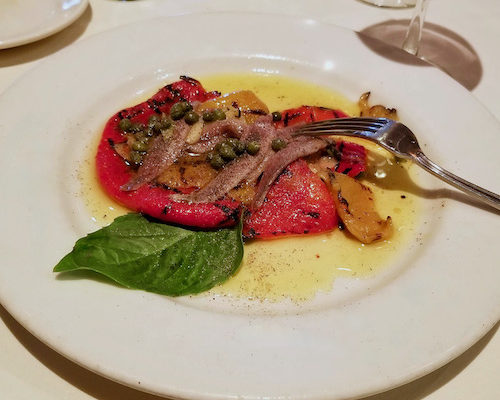 Roasted Red Bell Pepper With Anchovies