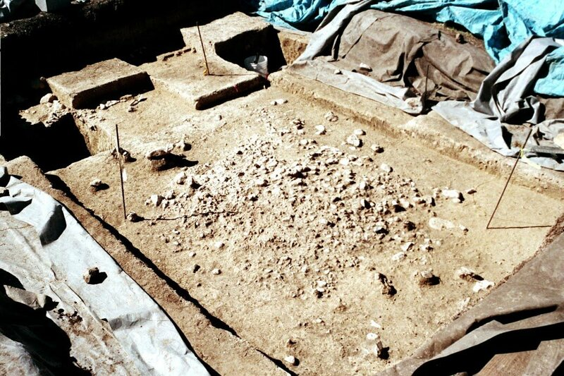 This gravel floor at the Gault site is at least 12,700 years old. --Gault School of Archeological Research